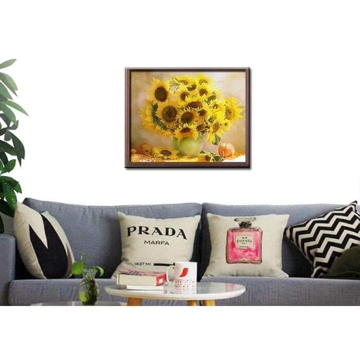 Malen nach Zahlen Sonnenblumenstrauß