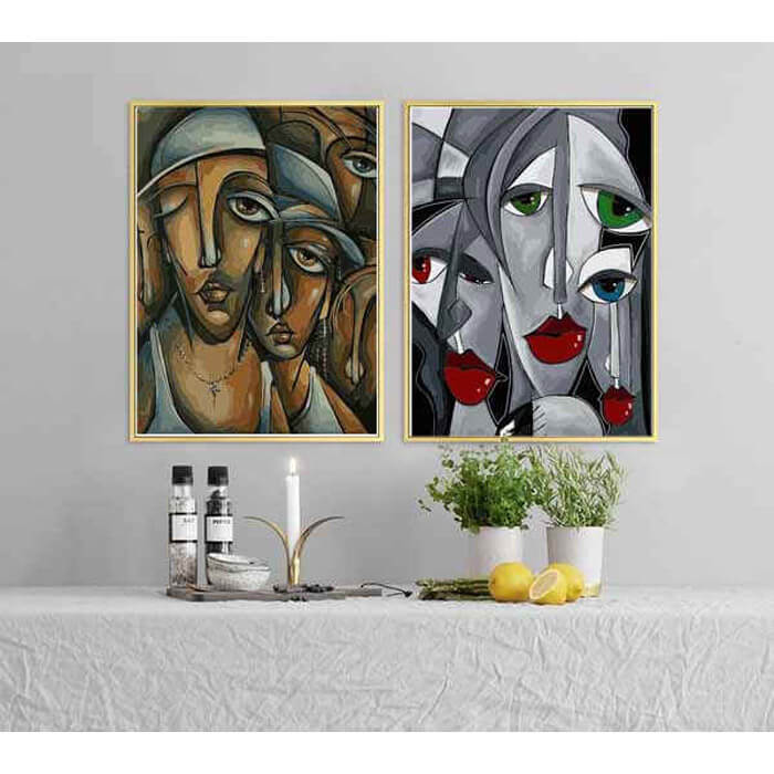 Painting by Numbers for Adults Abstract Art - Urban Faces Female