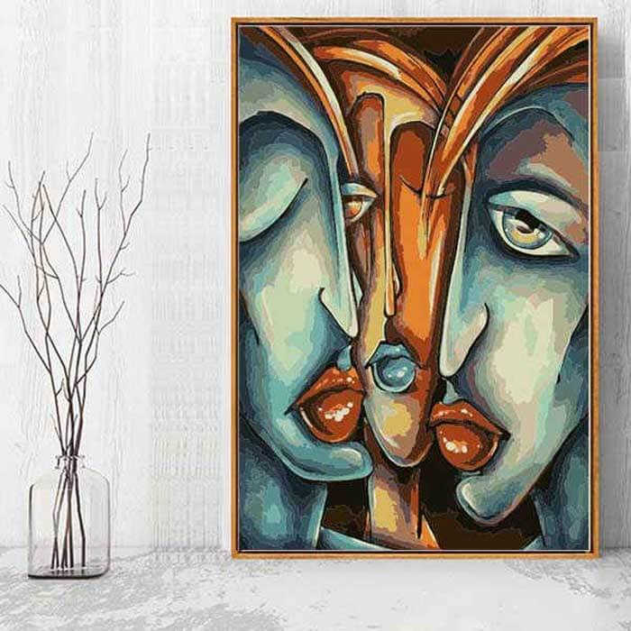 Painting by Numbers for Adults Abstract Art - Whispering