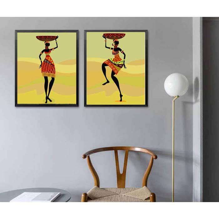 Malen nach Zahlen Afrika Kunst Träger