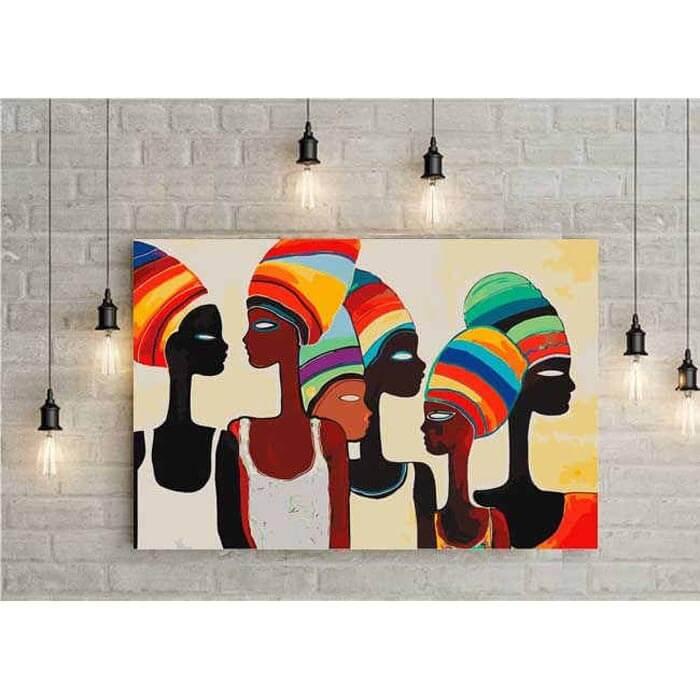 Malen nach Zahlen Afrika Frauen Moderne Kunst