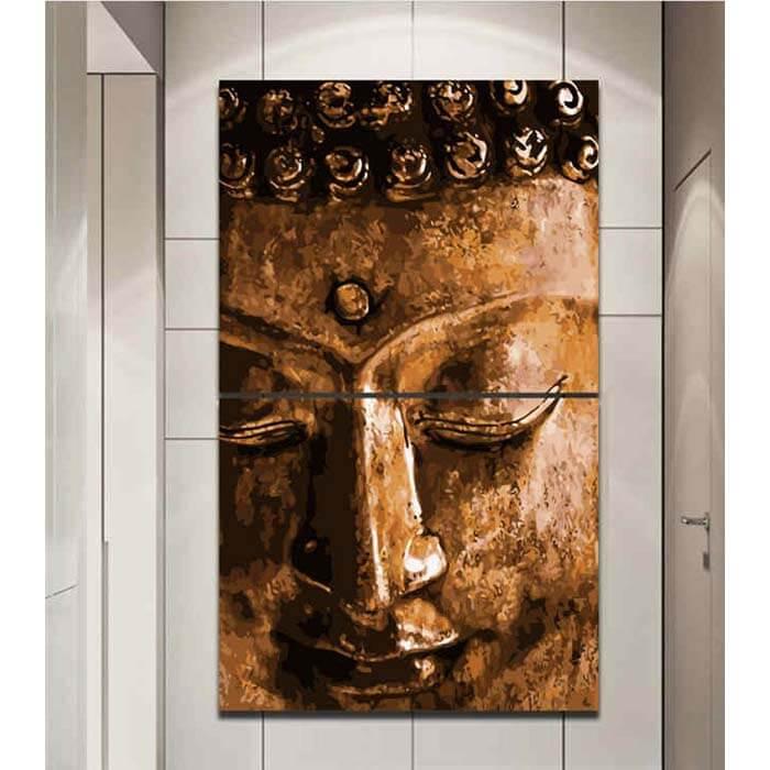 Malen nach Zahlen Schlafender Buddha Tradition Gold - 2-teilig