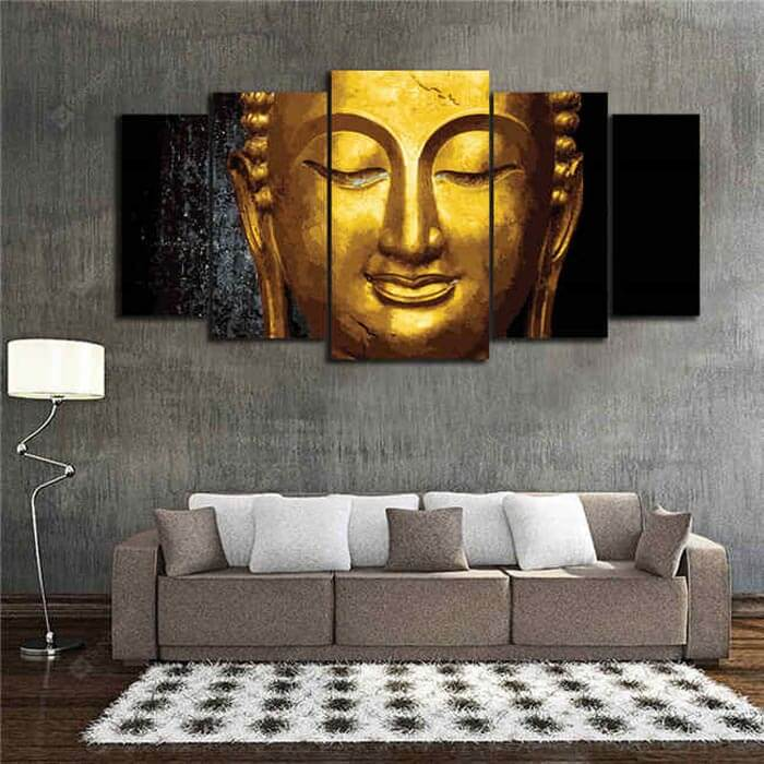Painting by Numbers - Golden Buddha 5 Panel