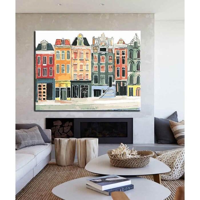 Malen nach Zahlen Altstadt Häuser