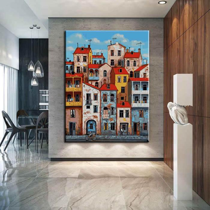 Malen nach Zahlen Kunst Italien Stadt
