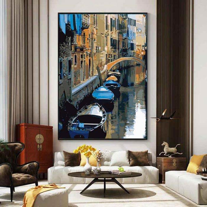 Painting by Numbers Art Venice Gondola