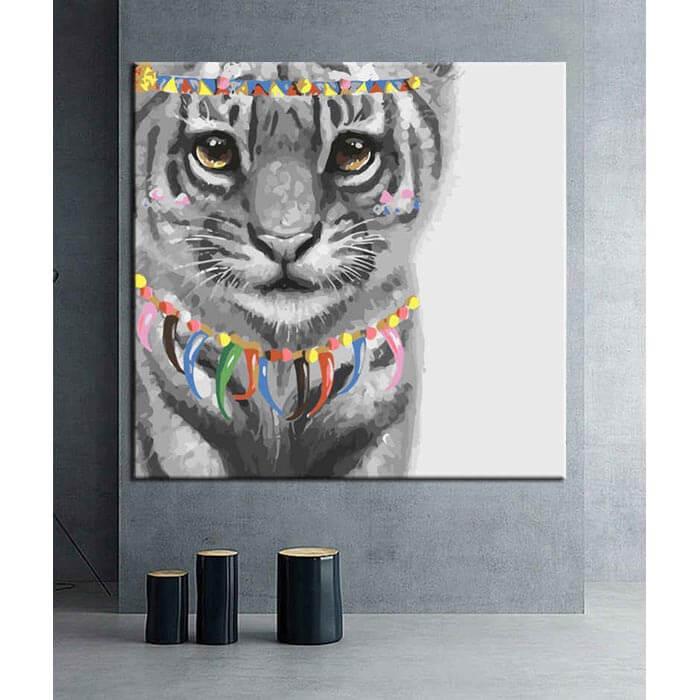 Malen nach Zahlen Kunst Tiger Baby