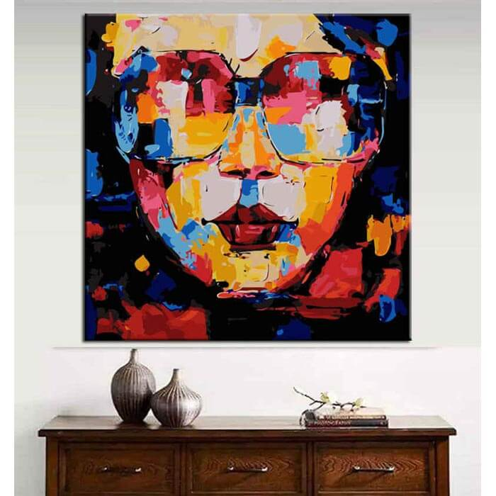 Painting by Numbers Modern Art Woman with glasses