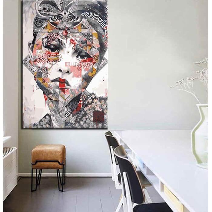 Malen nach Zahlen Moderne Asia Kunst Frau Gesicht