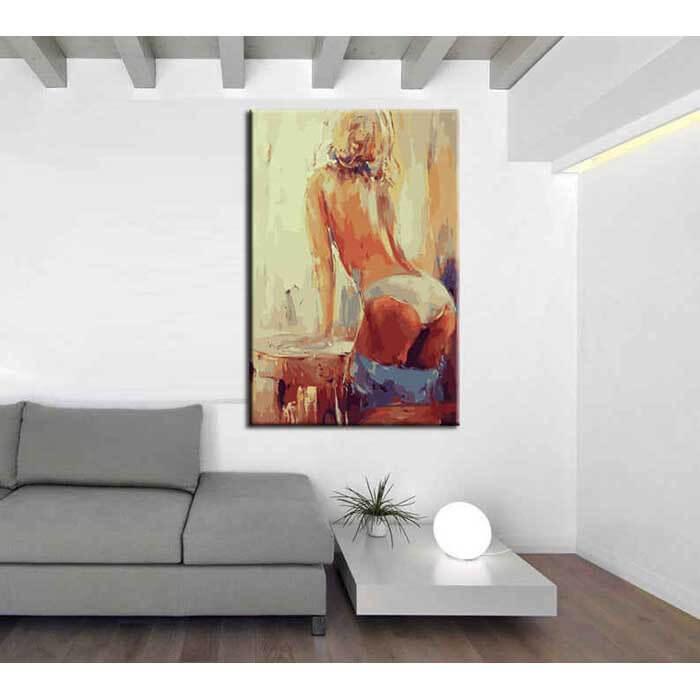 Malen nach Zahlen Moderne Kunst Frau AKT