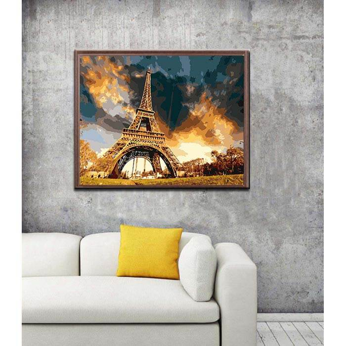 Paint by numbers imposing Eiffel Tower