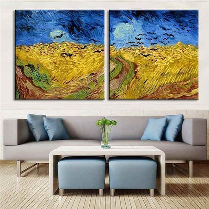 Painting by numbers Wheatfield with Crows - 2 Panel