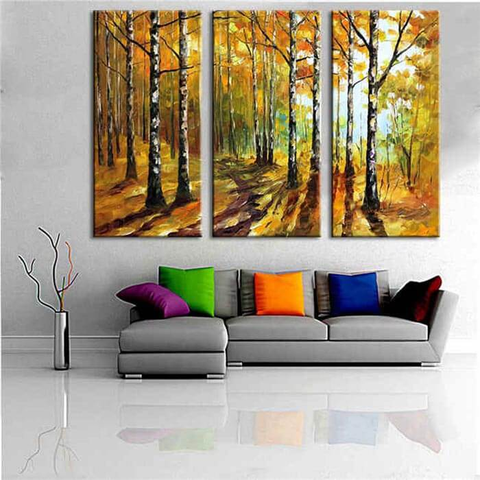 Painting by Numbers Birch Forest - 3 Panel