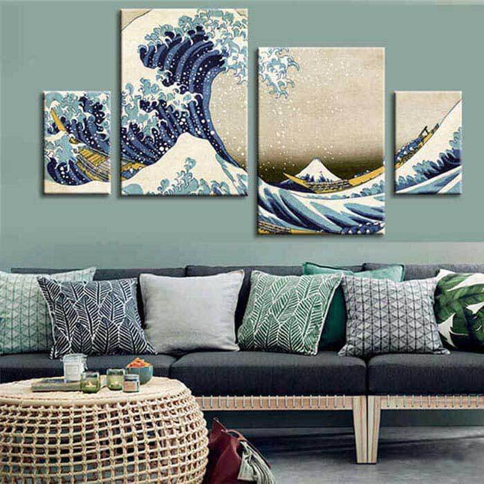 Painting by Numbers Japanese Great Waves - 4 -part (Quattro)