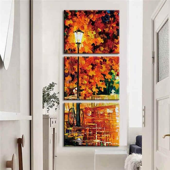 Malen nach Zahlen Herbst Abend - 3-teilig (Triptychon)