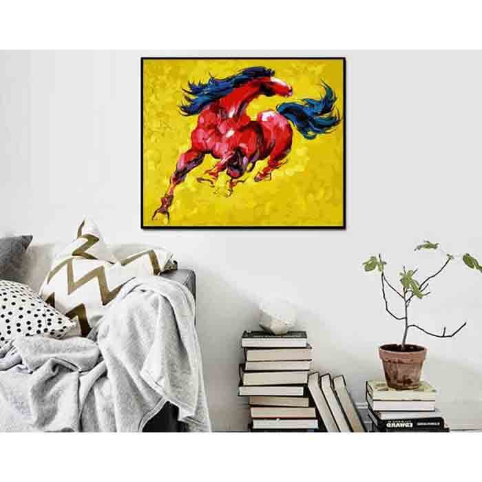 Malen nach Zahlen Rotes Pferd Tiere Moderne Tierkunst Malerei