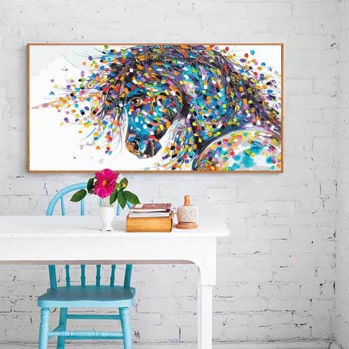 Malen nach Zahlen Einhorn Tiere Moderne Tierkunst Malerei