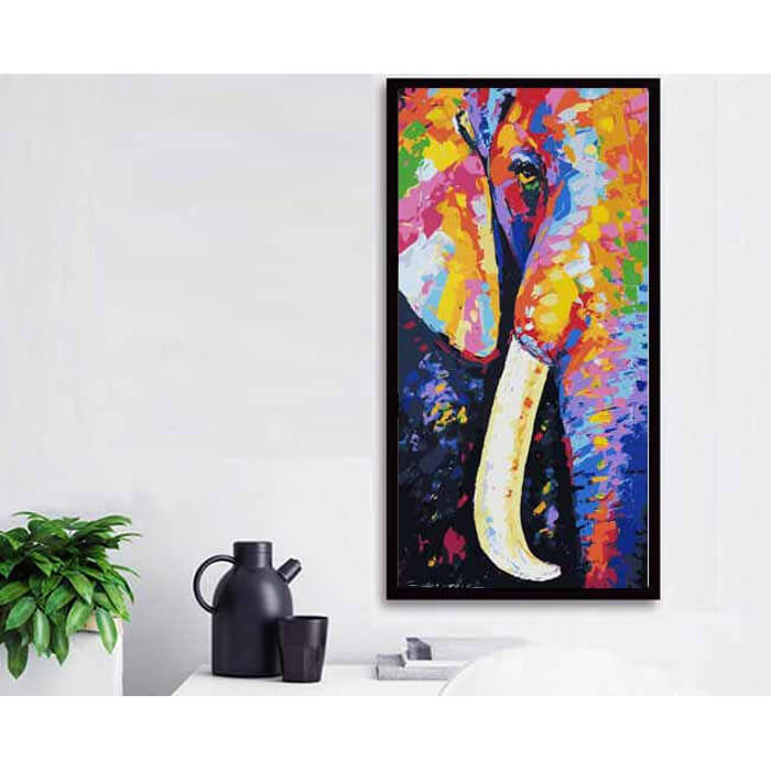 Painting by Numbers Elephant tusk Modern animal art