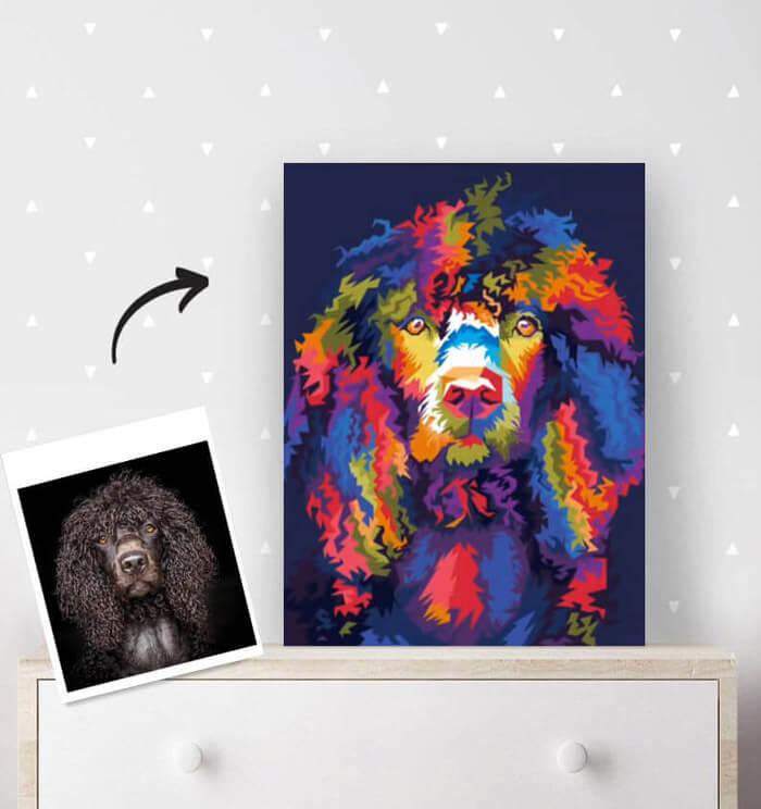 Handgefertigte Kunstwerke im Regenbogen Effekt Stil von Fotos