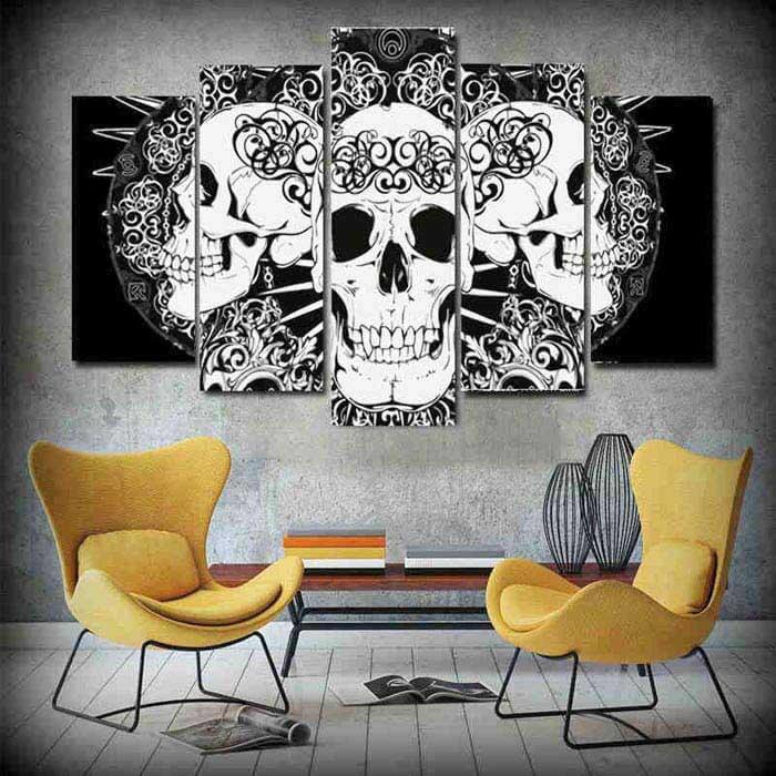 Painting by Numbers for adults Halloween Skull 5 panel