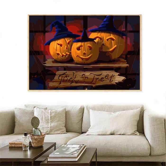 Painting by Numbers Kits Halloween Pumpkin Trick or Treat