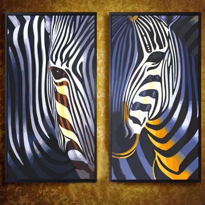 Malen nach Zahlen Zebra Tier