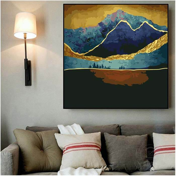 Paint by numbers golden mountains