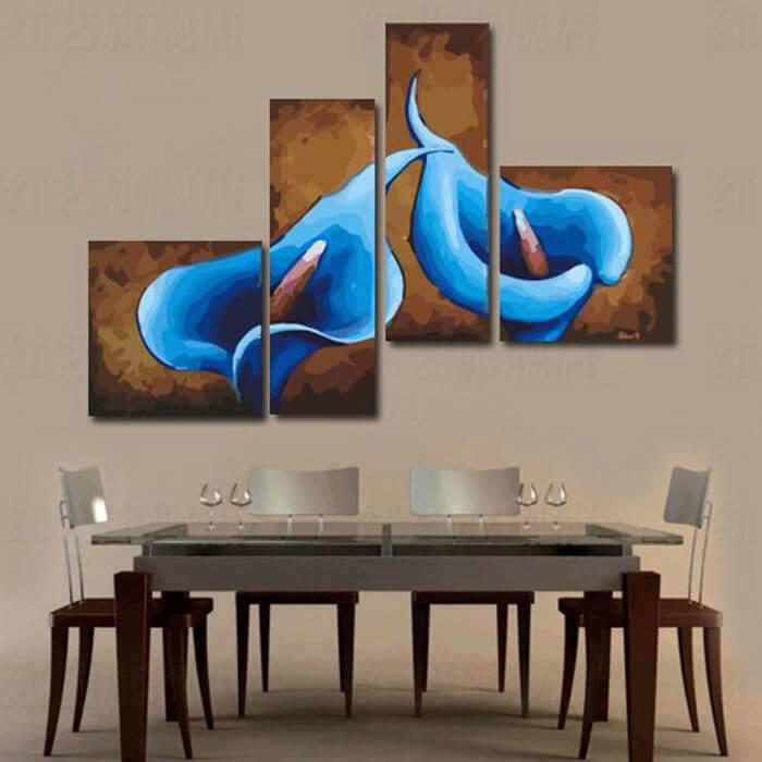 Malen nach Zahlen Blumen blau Quattro