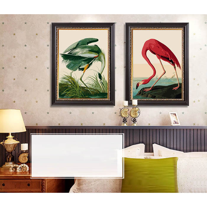 Paint by numbers heron