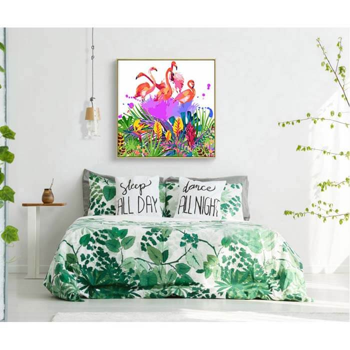 Paint by numbers flamingos colorful