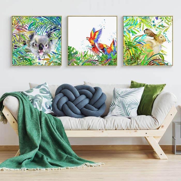 Paint by numbers koala bears