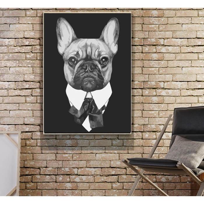 Malen nach zahlen zum ausdrucken hund