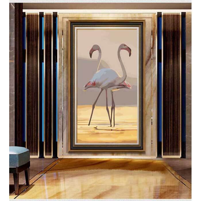 Painting by Numbers Flamingo Couple
