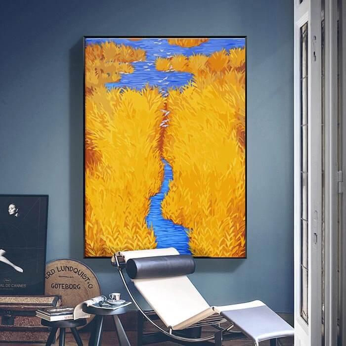 Malen nach Zahlen Flusslandschaft