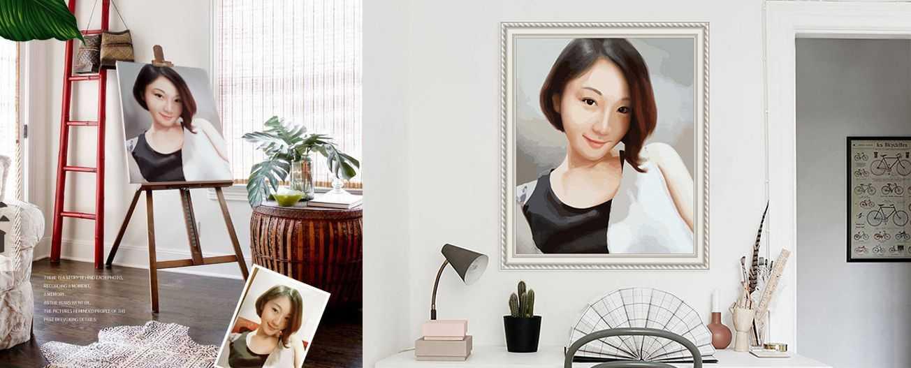 Personalisierte Malen nach Zahlen Motive von Ihrem Foto
