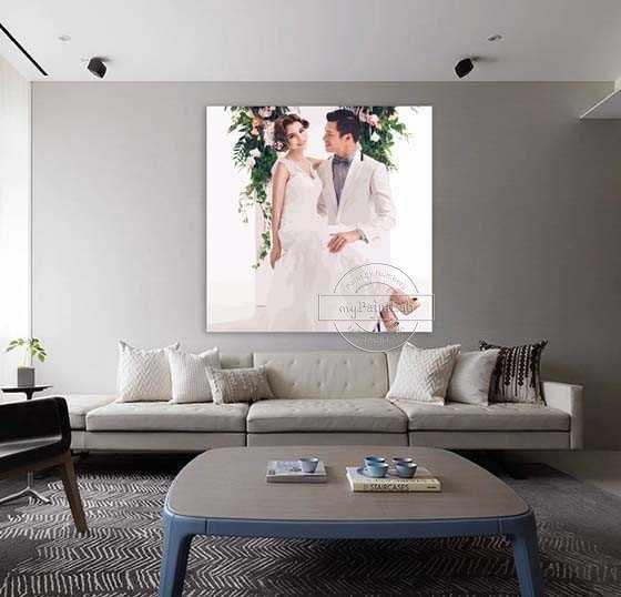 Malen nach Zahlen Vom Foto Hochzeit