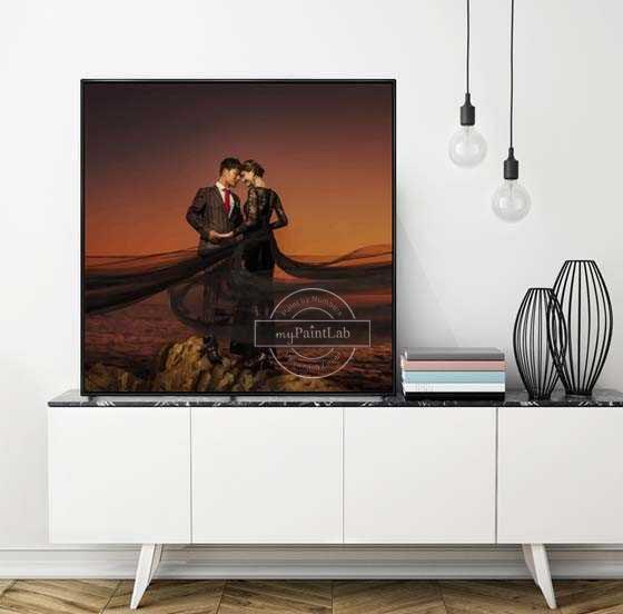 Malen nach Zahlen Eigenes Foto Hochzeit
