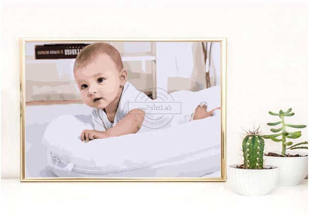 Custom Paint by Numbers - Baby Photo