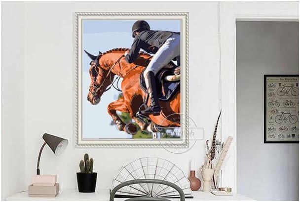 Custom Paint by Numbers from your own Horses photos