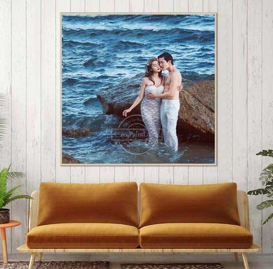 Custom Paint by Numbers - Wedding Photos