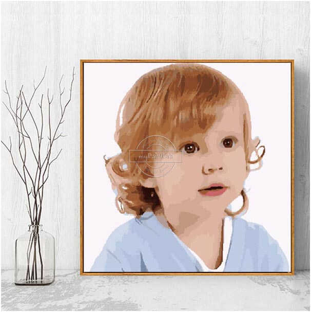 Customized Paint by Numbers - Baby Photo