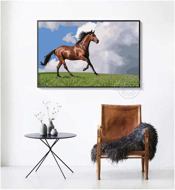 Customized Paint by Numbers for Horses – DIY Painting