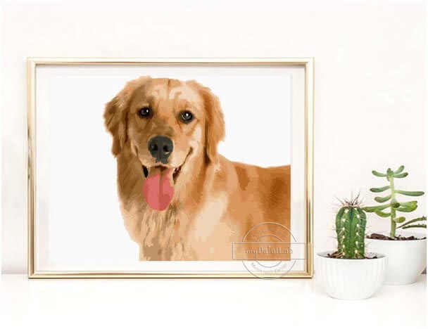 Custom Paint by Numbers from your own Dogs photos