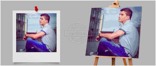 Malen nach Zahlen Wunschmotiv Hochzeitsfotos - Porträts