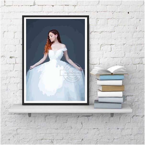 Malen nach Zahlen Wunschmotiv Sets für Hochzeitsfotos
