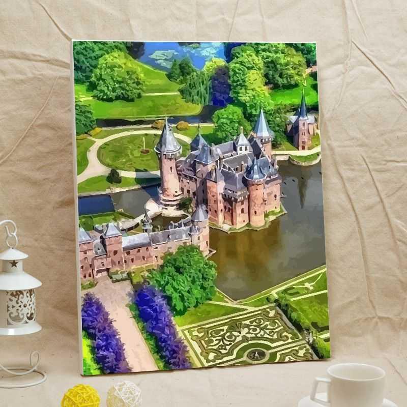 Malen nach Zahlen Foto umwandeln - Burgen und Schloesser