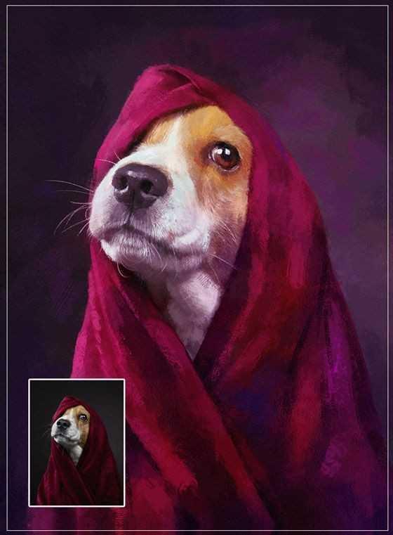 Malen nach Zahlen Eigenen Foto Hund