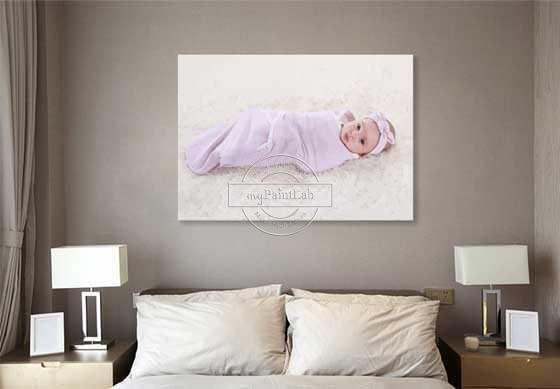 Malen nach Zahlen Eigenes Foto Baby
