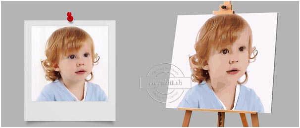Malen Nach Zahlen - Baby Foto