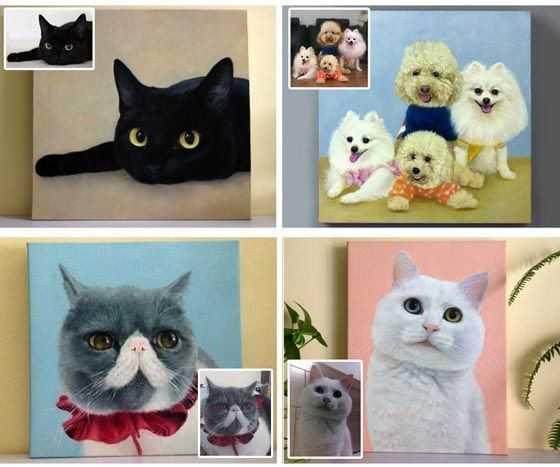 Malen nach Zahlen mit Eigenem Foto Haustier